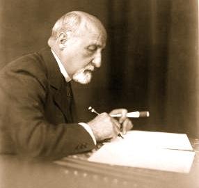 Karl Seitz bei der Arbeit